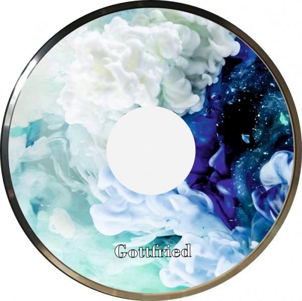 eisstock24 Gottfried Stockkoerper Eisstock EVO 1 Design Wolken Blau