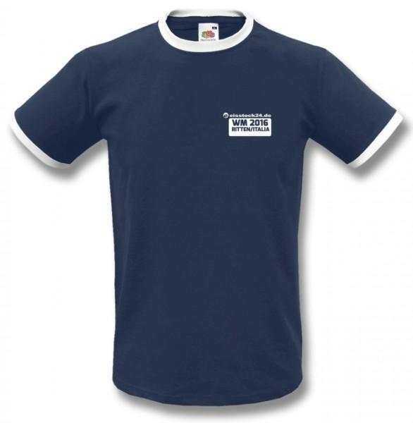 eisstock24 WM Fan-Shirt (Ritten/Italy 2016) vorne