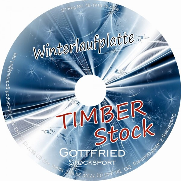 eisstock24 Gottfried Winterlaufplatte/Winterlaufsohle Timber Stock