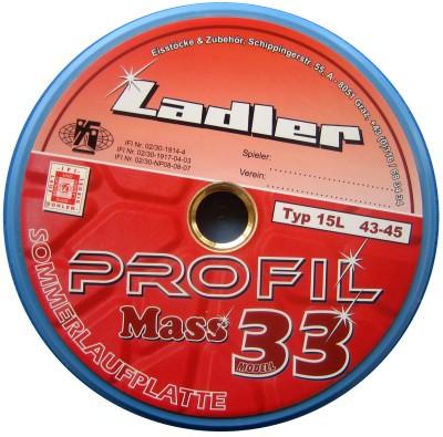 LADLER Profilplatte Modell 33 - Mass - Eisstock / Sommerlaufsohle