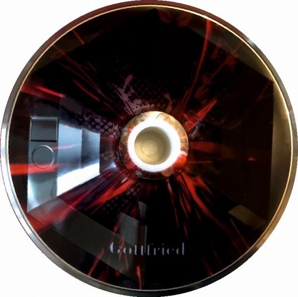 eisstock24 Gottfried Stockkoerper Eisstock EVO 1 Design Abstract rot-schwarz