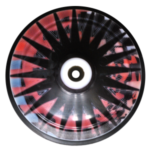 Eisstock SEIWALD Starlight rot (schwarzer Ring)