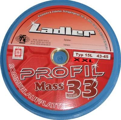 LADLER Profilplatte Modell 33 Mass - XXL  - Eisstock / Sommerlaufsohle