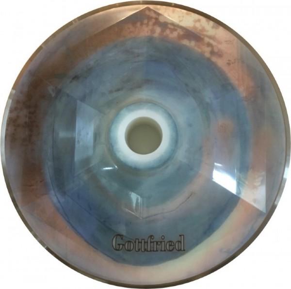 eisstock24 Gottfried Stockkoerper Eisstock EVO 1 Kreis Blau Gold