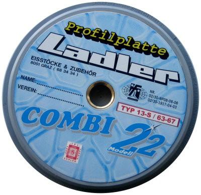 LADLER Profilplatte Modell 22 - Combi - Eisstock / Sommerlaufsohle