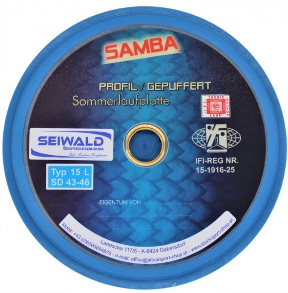 eisstock24 Seiwald Samba Profil gerillt Somerlaufsohle Massplatte Wapplerplatte