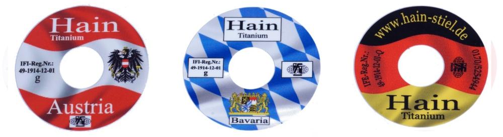 Hain Stiel Titanium Kappe Austria/Bayern/Deutschland