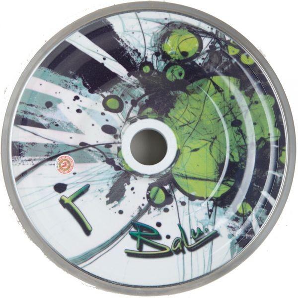 eisstock24 BaLu Eisstock Stockkörper Green Dots