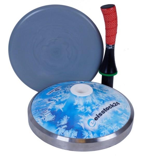 eisstock24 Hobby-Eisstockset WINTER Eisblume blau 03