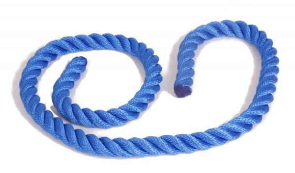 Schall- und Anschlagschutz für Ihre mobile Eisstockbahn - das Seil von eisstock24 blau
