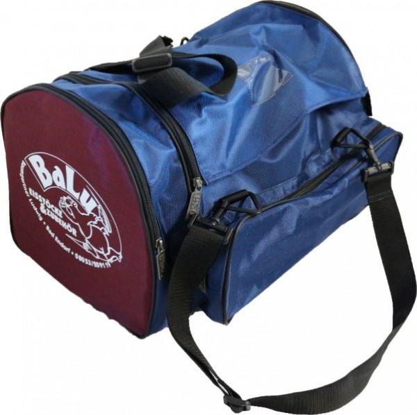 BaLu Eisstocktasche mit Holzeinsatz blau weinrot