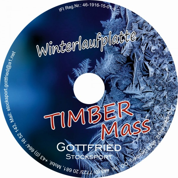 eisstock24 Gottfried Winterlaufplatte/Winterlaufsohle Timber Mass
