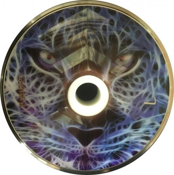 eisstock24 Gottfried Stockkoerper Eisstock EVO Leopard Blau