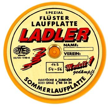 LADLER Modell 1 - Flüsterplatte gedämpft - Eisstock / Sommerlaufsohl