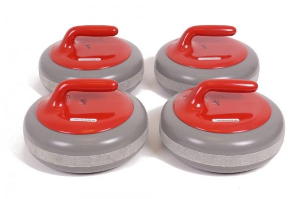 FUNNY CURL 4er-Set - Curling-Gaudi Event- und Gastroset rot