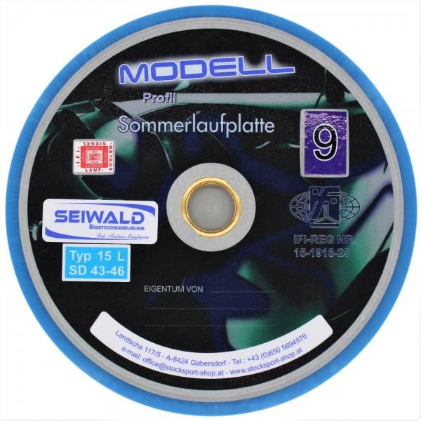 eisstock24 Seiwald Sommerlaufplatte Modell 9