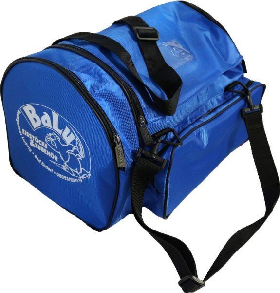 BaLu Eisstocktasche mit Holzeinsatz blau