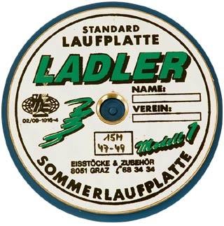 LADLER Modell 1 - Standard - Eisstock Sommerlaufplatte
