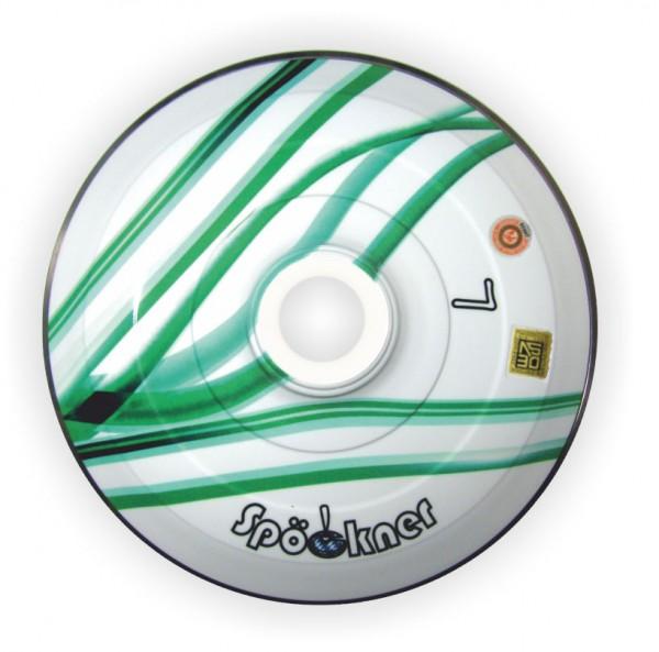 eisstock24 Spöckner Dreibein grün-weiss Eisstock Stockkörper