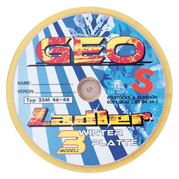 "LADLER Modell 3 GEO Stockplatte ""Geo S"" - Eisstock / Winterlaufsohle"