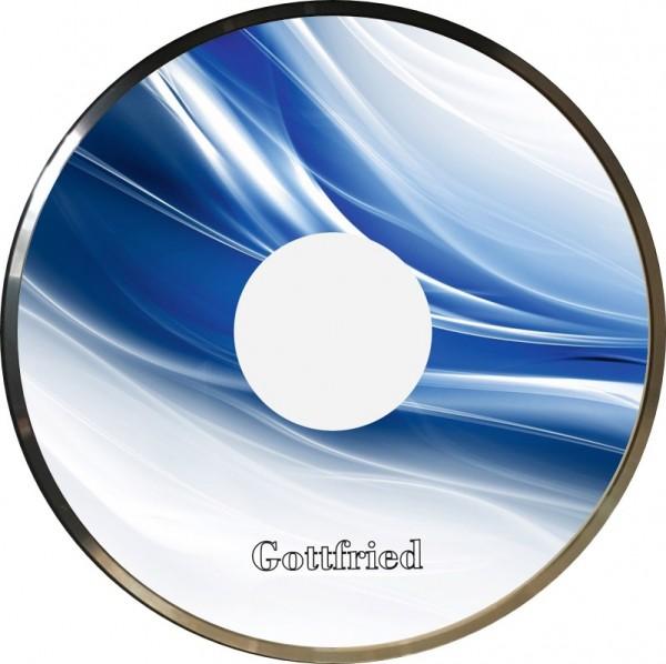 eisstock24 Gottfried Stockkoerper Eisstock EVO 1 Design Light Blau Weiß