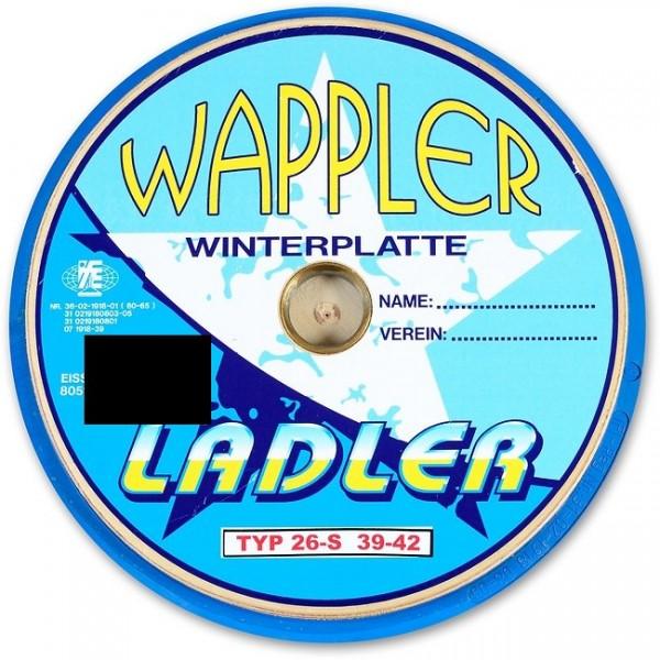 eisstock24 LADLER WAPPLER Winterplatte Sondermodell
