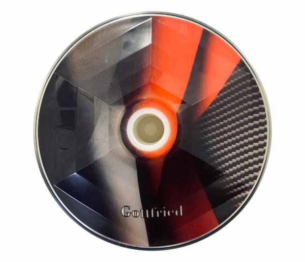 eisstock24 Gottfried Stockkoerper Eisstock EVO 1 Design Carbon rot-schwarz