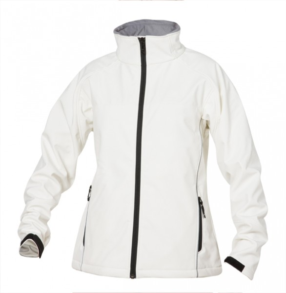 SOFTSHELL LADIES Damen Softshell-Jacke - stone white / eisstock24