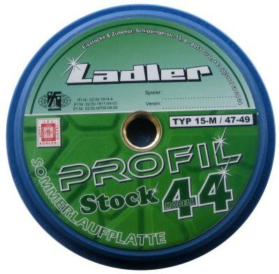 eisstock24 LADLER Profilplatte Modell Stock 44 - Eisstock / Sommerlaufsohle