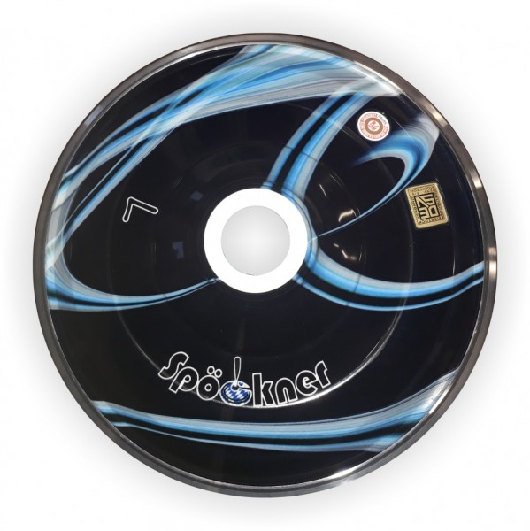 eisstock24 Spöckner Gravur blau-schwarz Eisstock Stockkörper