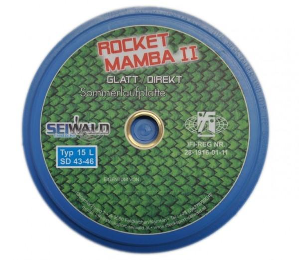 eisstock24 Seiwald Mamba Rocket II glatt Somerlaufsohle Schussplatte blau