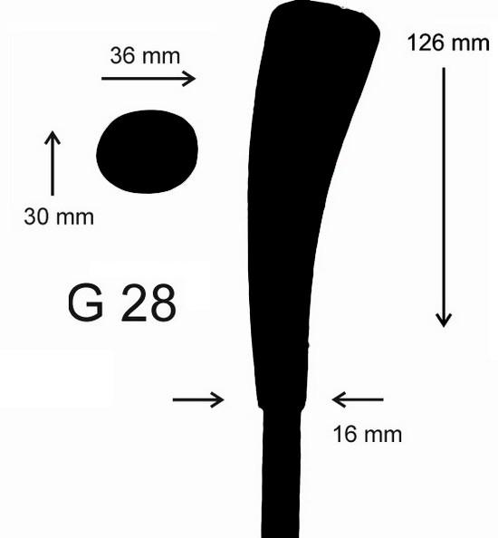eisstock24 Gottfried Eisstockstiel Griffstück Griffnummer G28