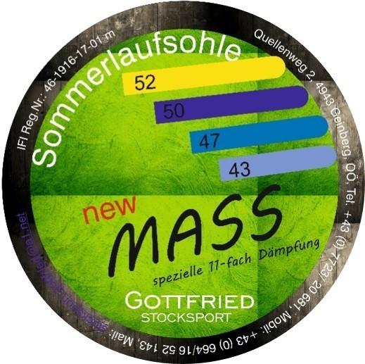 eisstock24 GOTTFRIED GOTTFRIED Mass 11-fach gedämpft - Eisstock / Sommerlaufsohle