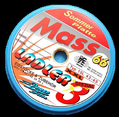 LADLER Glatte Massplatte 66 XXL - Eisstock / Sommerlaufsohle