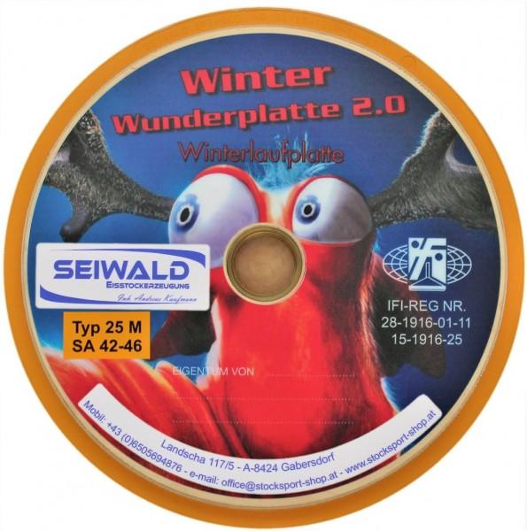 eisstock24 Seiwald Wunderplatte 2.0 - Eisstock Winterlaufplatte