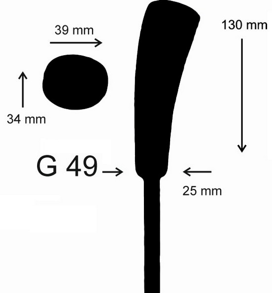 eisstock24 Gottfried Eisstockstiel Griffstück Griffnummer G49
