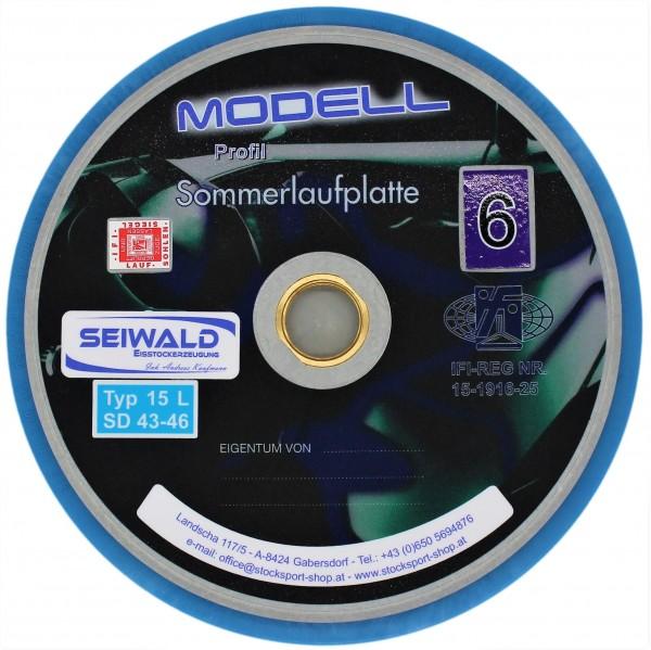 eisstock24 Seiwald Sommerlaufplatte Modell 6